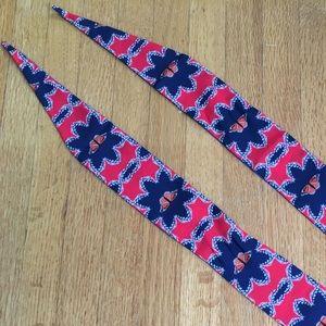 Neck tie or bag tie scarf
